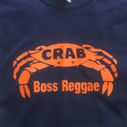 CRAB BOSS REGGAE T-SHIRT NAVY & ORANGE